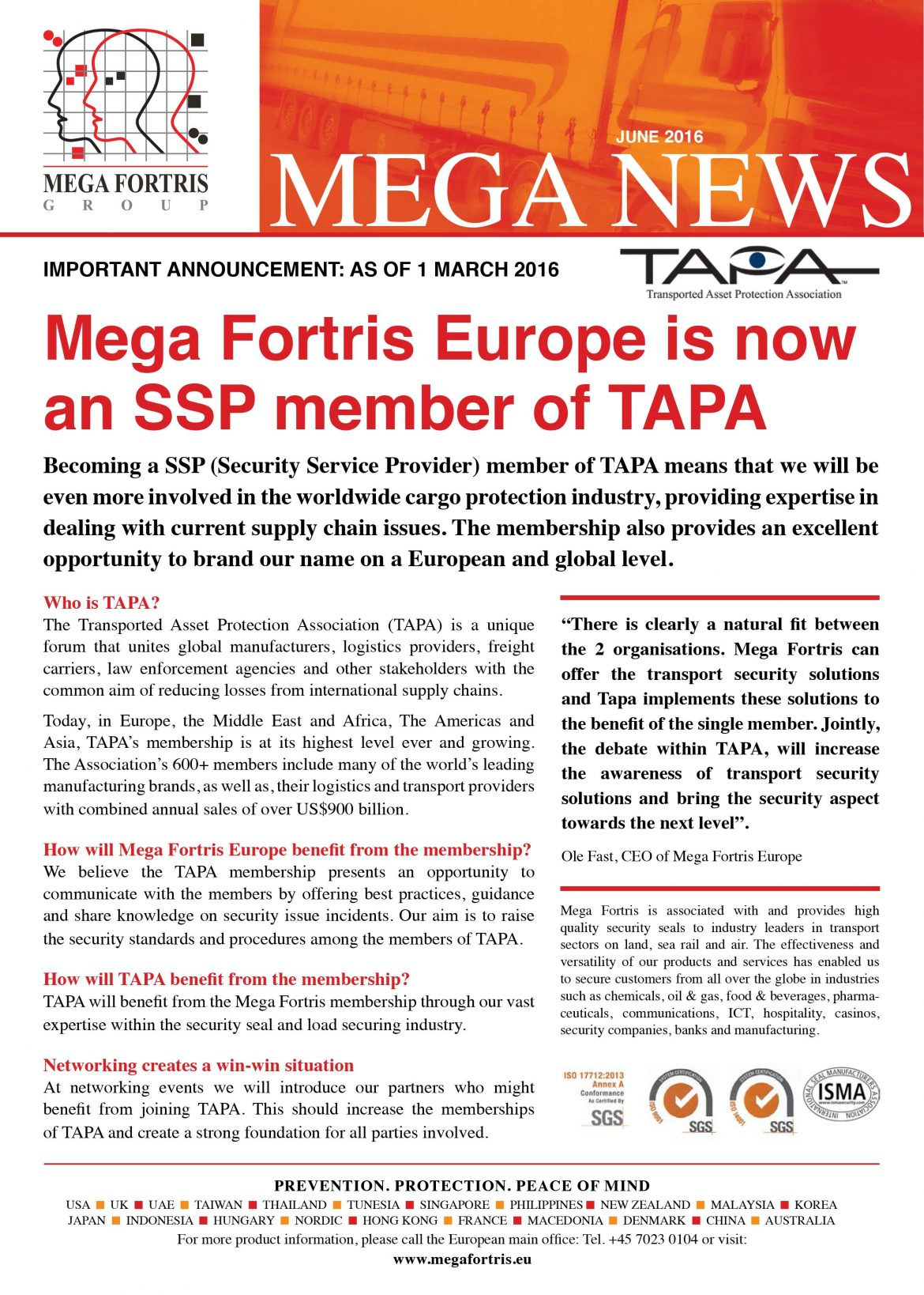 mega fortris news juin 2016
